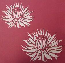 Scrapbooking - STENCILS TEMPLATES MASKS SHEET - Protea 01 Stencil