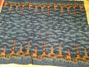 "Lighthouse Fleece throw Blanket 73"" × 51"""