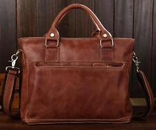 2016 Mens vintage travel real Leather Briefcase Shoulder Messenger handbags bags