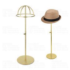 Gold Matte Stainless Steel Adjustable Hat Display Stand Holder Rack General M6