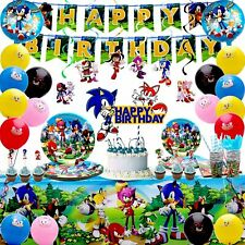 Sonic Theme Birthday Party Supplies-Hedgehog Sonic Party Supplies for Kids