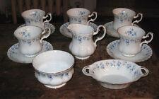 Royal Albert Memory Lane  5 demitasse  cups & saucers creamer sugar handld bowl