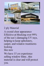 "Window Film 99% UV  Protection Fade Control Clear Ceramic 24 ""x6.5 ' Intersolar®"