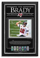 Tom Brady Facsimile Signed Tampa Bay Buccaneers Super Bowl LV Champions Framed