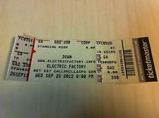 DOWN Warbeast PENTAGRAM Haarp Press Unused Ticket Electric Factory Philadelphia