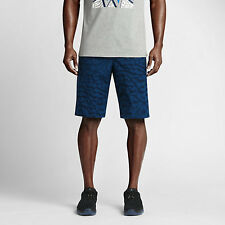 NWT Nike Air Jordan Printed City Short Size 28 Retail  Blue/Black 818507 442