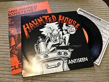 "ANTISEEN - WALKING DEAD + HAUNTED HOUSE 7"" SINGLE USA 90 AJAX + POSTER PUNK"