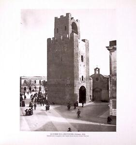 STAMPA FOTO ALINARI, LA TORRE DI S. CRISTOFORO, Oristano, 1914