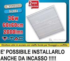 V-TAC PANNELLO LED 60X60 36W 45W INCASSO TETTO SOSPENSIONE CALDO FREDDO NATURALE
