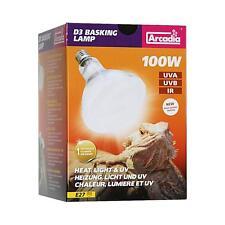 Arcadia D3 UV Basking E 27 Lampe 100 Watt Terrarienlampe Reptilienlampe Spot