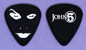 Rob Zombie John 5 Signature Face Black Guitar Pick - 2010 Tour