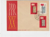Poland 1962 Anniversary of Uprising Slogan Cancel FDC 3x Stamps Cover Ref 25111