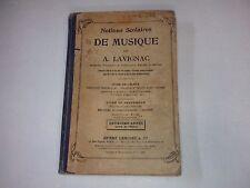 Livre d'école de 1906  (Notions scolaires de musique)