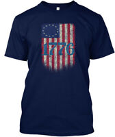 Betsy Ross 4th Of July American Flag Hanes Tagless Tee T-Shirt