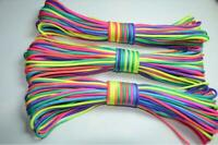 RainBow Color 550 Paracord Rope 7 strand 100FT Parachute Cord CAMPING HiKING