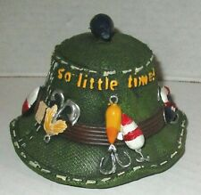 FISHERMAN'S HAT Fishing Decor~Lures along band~Rustic Cabin Decor