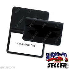 Vinyl business credit card cases for men ebay business card license credit card id vinyl thin black wallet holder colourmoves