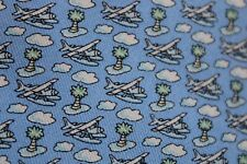 Vineyard Vines Boys Silk Blue Sea Plane Palm Tree Island Cloud Neck Tie 3.25x51