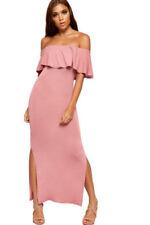 Vestiti da donna rosa lunghezza lunghezza totale con spalline