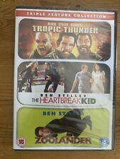 Tropic Thunder/Zoolander/The Heartbreak Kid ----- Ben Stiller DVD