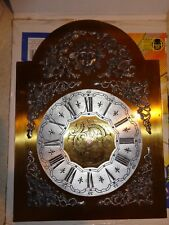 Bass Grandfather Clock Dial with Pewter Decorative Attachments and Engravings #1
