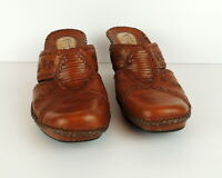 Clarks Artisan Collection Womens 7 Clog Shoe Slip On Wedge Leather Boho