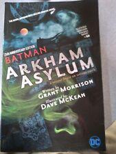 Batman Arkham Asylum Graphic Novel Vf/Nm Dc Comics Grant Morrison Dave Mckean
