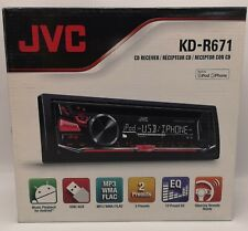 JVC KD-R482 CD MP3 USB AUX en Android Auto Estéreo Radio Reproductor De Pantalla de Color Rojo