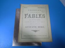 Vintage Cassell's Illustrated Book of Fables La Fontaine #6 by Gustave Dore L986