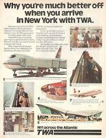 1977 Original Advertising' Vintage American Twa Trans World Airlines New York