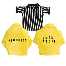 Set of 3 Loose Wrestling Action Figure Shirts: Referee, Security, Event Staff