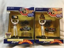 2 WINNERS CIRCLE DALE EARNARDT #3 1994 & 1998 50TH FIGURES & CARS 1/64 & TROPHY