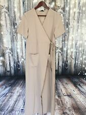Forever 21 Women's Dress Long Taupe Wrap Around Size Small