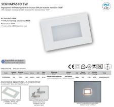 SEGNAPASSO LED PER SCATOLA 503 IP65 CON CORNICE BIANCA INOX 230V 4000K LAMPO
