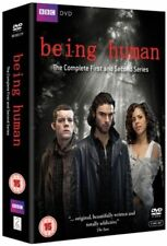 BBC= BEING HUMAN - COMPLETE FIRST AND SECOND SERIES = RUNTIME 13 HOURS + = 5 DVD
