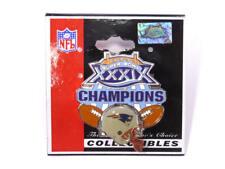 New England Patriots Super Bowl 39 Champions Souvenir Collectible Hat, Lapel Pin