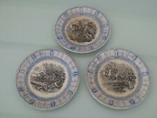 Lot de 3  anciennes assiettes Boch Frères Keramis médaille d'Or 1847