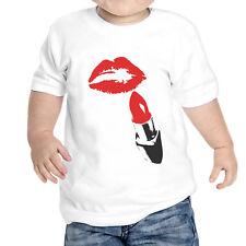 camiseta bebé Unisex Labios Lápiz labial Rojo