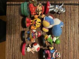 Lot Of 8 Mixed Amiibos Super Smash Bros Mario Figures Great Pieces