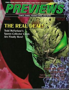 PREVIEWS Comics Catalog, Feb 1995, SPAWN, Ghost,100 years in comics/Promo Sheets