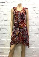 Diane Von Furstenburg Stunning 100% Silk Floral Textured Mini UK 10