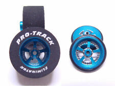 "Pro Track ""Evolution Blue"" 1 3/16"" x .500 Rear and Front Drag 1/24 Slot Car"