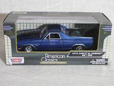 Motor Max 1/24 1970 Chevy El Camino SS 396 BLUE  79347 Diecast Model Car MMX106