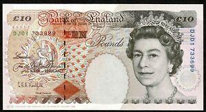 * Bank of England * £10 * Kentfield * p386a / B369 * Prefix DJ01  * GEF