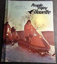 VINTAGE 1971 ALOUETTE  SNOWMOBILE SALES BROCHURE 4 PAGES  (618)