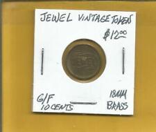 Jewel Vintage Token G/F 10 Cents 18 MM Brass