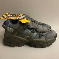 Caterpillar CAT Protector dark navy blue chunky shoes trainers blogger 90s y2k