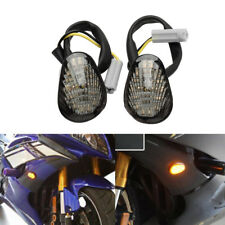 2PCS Flush Mount LED Turn Signals Lights Indicator For YAMAHA YZF R1 R6 R6S
