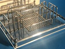 Vintage Oneida Silverware/Flatware Silverplate & Acrylic Buffet Caddy/Holder