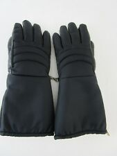 Vintage Fairfield Hanover Leather Winter Snowmobile Gloves Lined Women's Small